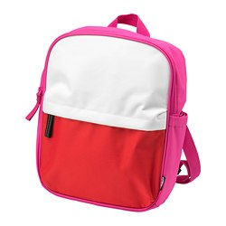 STARTTID backpack, pink/white