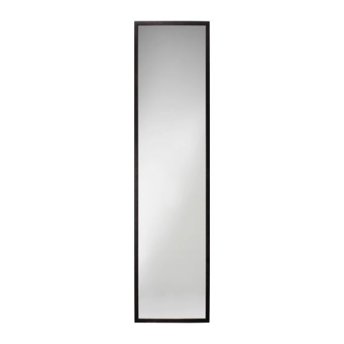 STAVE Mirror IKEA The mirror can be made turnable if you choose to mount it with the enclosed hinges.  Can be hung horizontally or vertically.