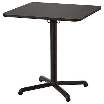 STENSELE Table, anthracite/anthracite, 70x70 cm