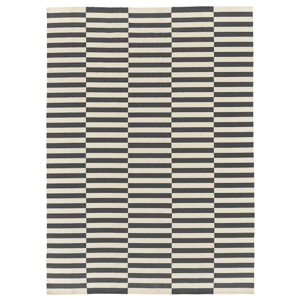 STOCKHOLM 2017 rug, flatwoven handmade/striped grey 350 cm 250 cm 8.75 m²