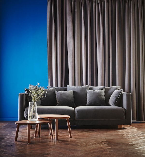 STOCKHOLM 2017 Three-seat sofa, Sandbacka dark grey