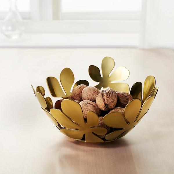 STOCKHOLM Bowl, gold-colour, 20 cm