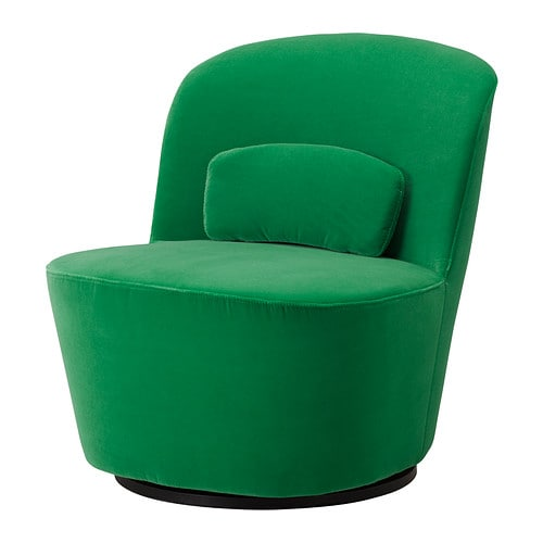 Stockholm Swivel Easy Chair Sandbacka Green Ikea