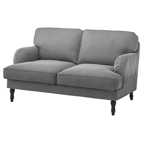 STOCKSUND 2-seat sofa Ljungen medium grey/black/wood 84 cm 73 cm 154 cm 97 cm 13 cm 122 cm 58 cm 46 cm