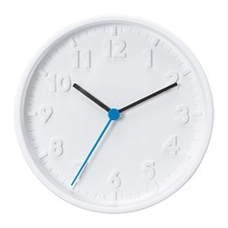 STOMMA wall clock, white