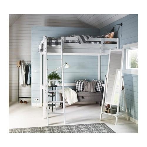 d7058e0b10ac8 STORÅ Loft bed frame - white stain - IKEA