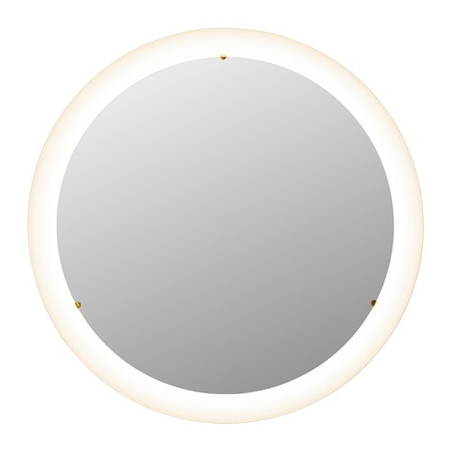 STORJORM mirror with integrated lighting  white Diameter. Bathroom Wall Mirrors   IKEA