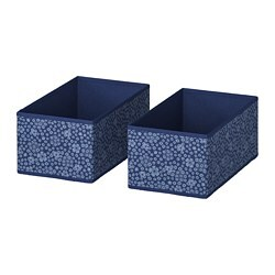 STORSTABBE box, blue, white