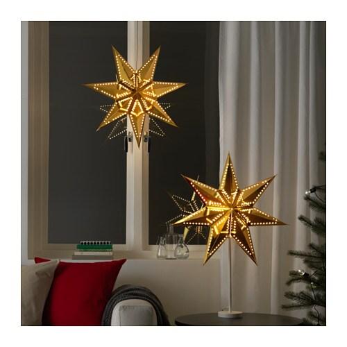 STRÅLA Lamp shade, gold-colour gold-colour 60 cm