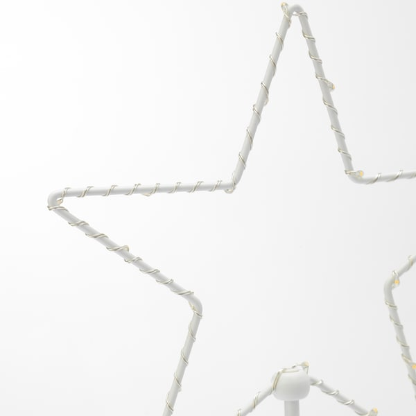 STRÅLA LED table decoration, battery-operated/star