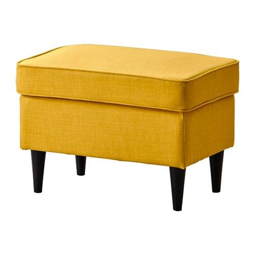 Strandmon Footstool Skiftebo Yellow Ikea
