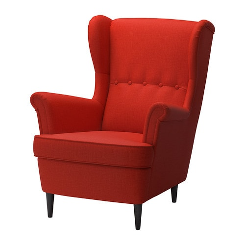 Strandmon Wing Chair Skiftebo Orange Ikea
