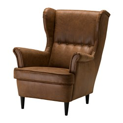 STRANDMON wing chair, Järstad brown