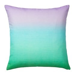 STRÄVKLINT cushion cover, light turquoise-green, light lilac