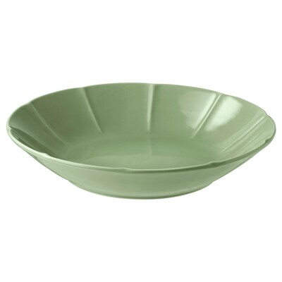 STRIMMIG Deep plate, stoneware green, 23 cm