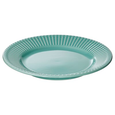 STRIMMIG Side plate, turquoise, 21 cm