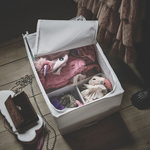 STUK Storage case, white/grey, 34x51x28 cm