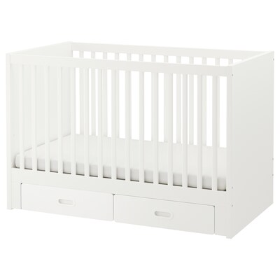 STUVA / FRITIDS cot with drawers white 70 cm 132 cm