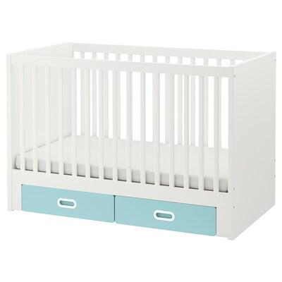 STUVA / FRITIDS cot with drawers light blue 70 cm 132 cm