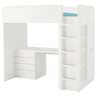 STUVA / FRITIDS loft bed combo w 4 drawers/2 doors white/white 145 cm 62 cm 74 cm 182 cm 142 cm 108 cm 197 cm 100 kg 189 cm 92 cm 20 cm