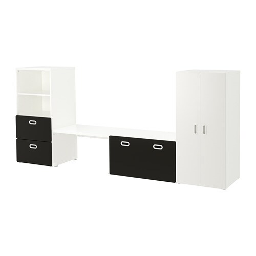 Stuva Fritids Storage Combination White Blackboard