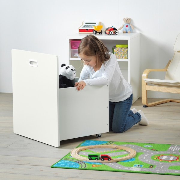 STUVA / FRITIDS Toy storage with wheels, white/white, 60x50x64 cm