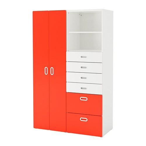 Stuva fritids wardrobe white red ikea for Ikea stuva schrank