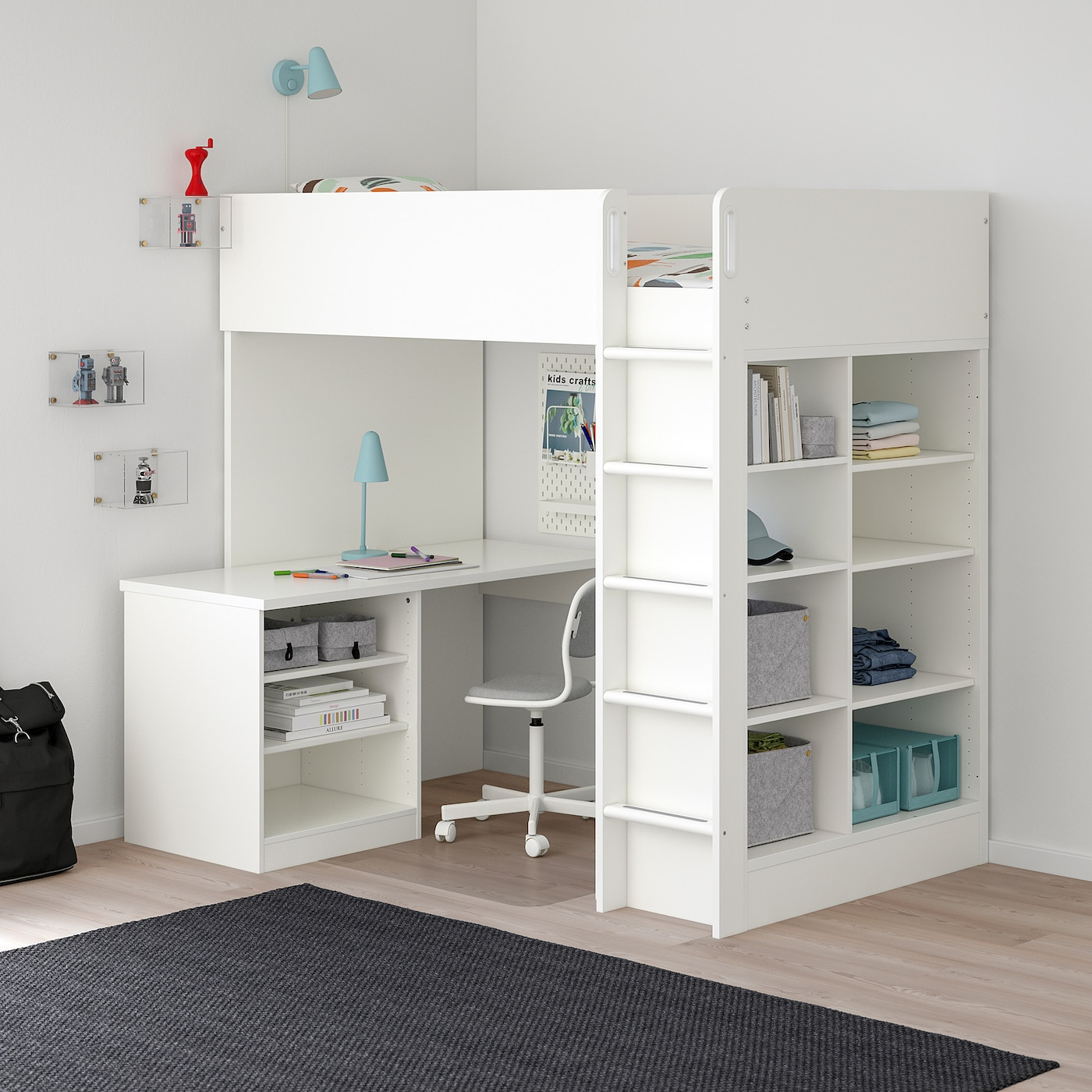 Picture of: Stuva Loft Bed Combo W 2 Shlvs 3 Shlvs White Single Ikea
