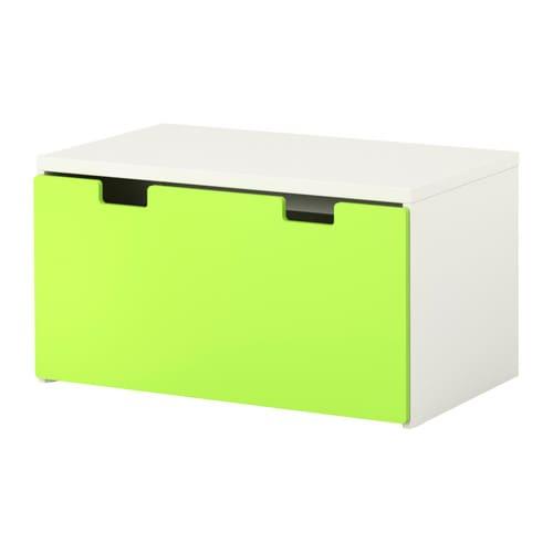 STUVA storage bench, white, green