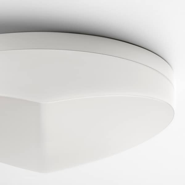 SVALLIS LED ceiling lamp, white, 27 cm