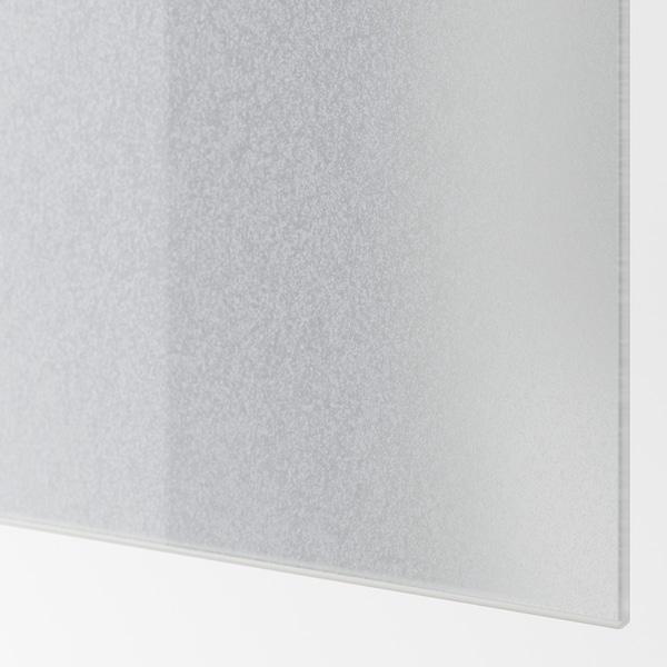 SVARTISDAL 4 panels for sliding door frame, white paper effect, 75x201 cm