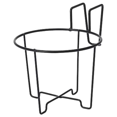 SVARTPEPPAR Plant pot holder, in/outdoor/black, 16 cm