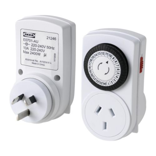 TÄNDA Timer, 24 hours IKEA Helps you save energy and money on your electric bill by timing lights to turn off automatically when they aren't needed.