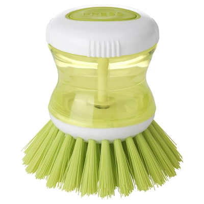 TÅRTSMET Dish-washing brush with dispenser, green