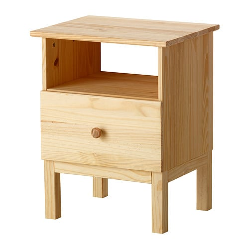 Tarva bedside table ikea for Table en pin ikea