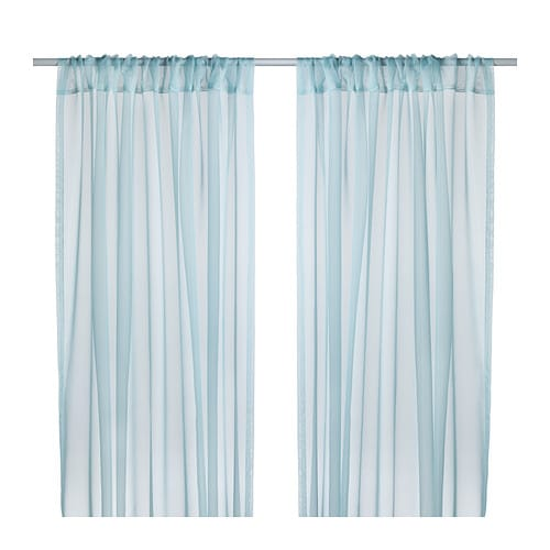 teresia sheer curtains 1 pair ikea. Black Bedroom Furniture Sets. Home Design Ideas