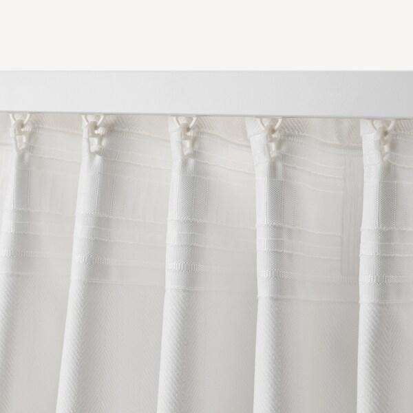 TIBAST curtains, 1 pair white 250 cm 145 cm 2.12 kg 3.63 m² 2 pack