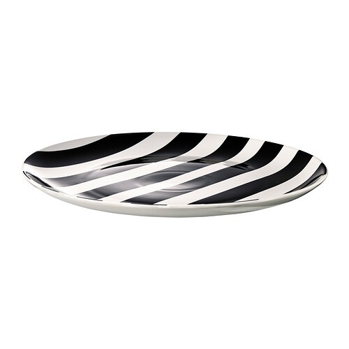 TICKAR Plate IKEA The graphic pattern is inspired by Scandinavian simplicity and gives the dinnerware a stylish character.