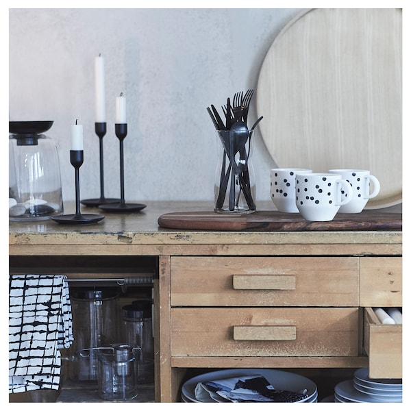 TILLAGD 24-piece cutlery set, black