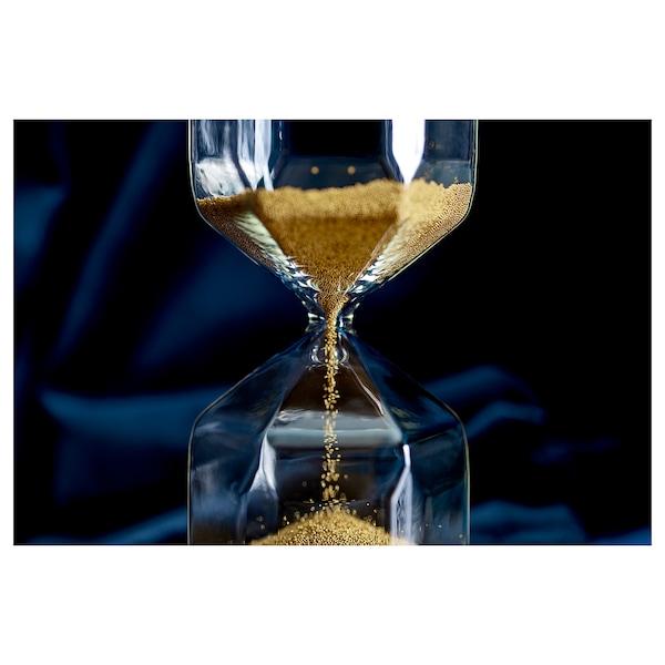 TILLSYN decorative hourglass clear glass 16 cm