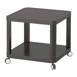 TINGBY side table on castors, grey