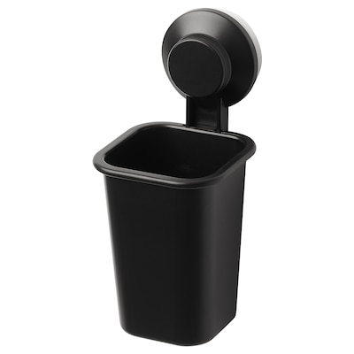 TISKEN Toothbrush holder with suction cup, black