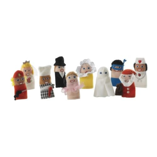 TITTA FOLK Finger puppet IKEA One size; suitable for both small and large fingers.