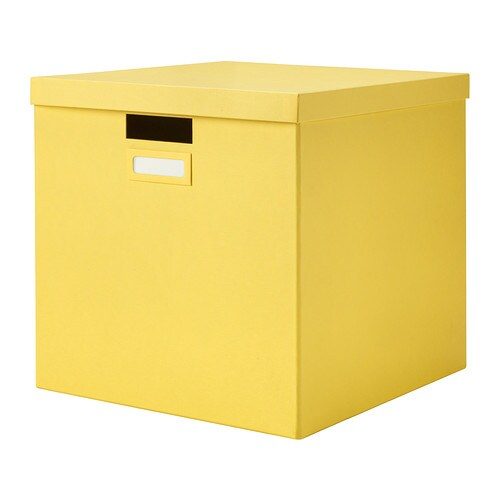 Tjena Box With Lid Yellow Ikea