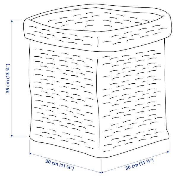 TJILLEVIPS Basket, jute, 30x30x35 cm
