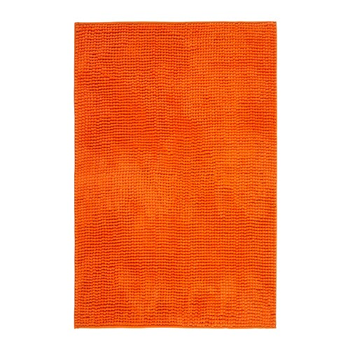TOFTBO Bath mat  orange, 60×90 cm  IKEA