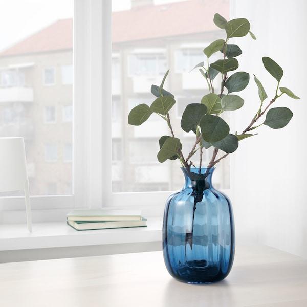 TONSÄTTA Vase, blue, 21 cm