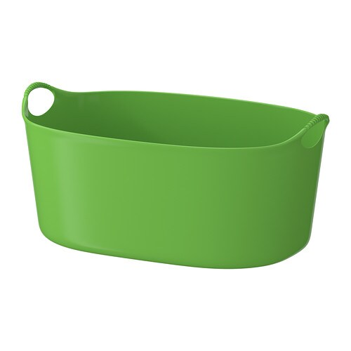 TORKIS Flexi clothes-basket, in/outdoor IKEA Comfortable to carry because the entire clothes-basket is made of soft, flexible plastic.