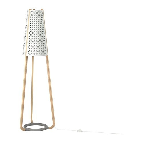 TORNA Floor lamp IKEA Gives a diffused light; good for spreading light into larger areas of a room.