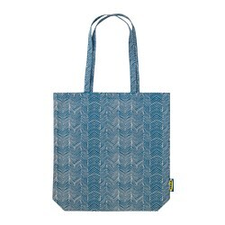 TREBLAD bag, blue/beige